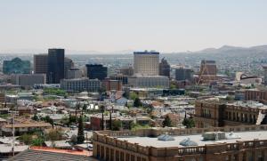 De skyline in El Paso (Texas, USA) vanaf het noorden gezien (foto: Wikipedia)
