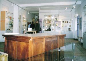 Tucholskys Schreibtisch im Kurt-Tucholsky-Literaturmuseum auf Schloss Rheinsberg
