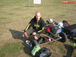 Kite-landboarder Jeroen Pigmans