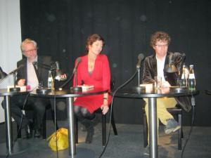 V.l.n.r.: Jan Konst, Eva Menasse, Arnon Grunberg