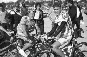 Koos Moerenhout (l) en Michael Boogerd (r).