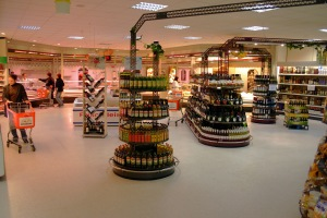 Circa 800 m2 grote modelsupermarkt