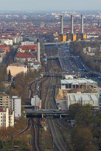 Foto: © A. Stavin. Uitzicht over de S-Bahn-Ring vanaf de Berlijnse 'Funkturm'
