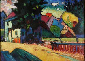 Wassiliy Kandinsky: Murnau, Landscape with Green House, 1909. © VG Bild-Kunst, Bonn 2015