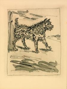 Pablo Picasso: Le Chien (Der Hund), 1936. Staatliche Museen zu Berlin, Kupferstichkabinett. © Succession Picasso/VG Bild-Kunst, Bonn 2015/ Foto: Volker-H. Schneider