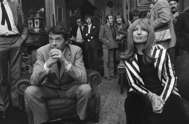 Jacques Brel en Liesbeth List in Baarn, Nederland, 1971