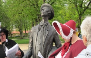 """Foto n.a.v. de """"Kannitverstan-Tour"""" ter ere van de 250e verjaardag van de dichter Johann Peter Hebel"""