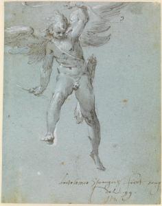 Bartholomeus Spranger: Fliegender Amor, 1599