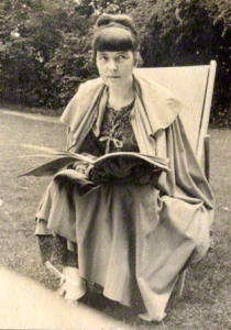 Katherine Mansfield by Lady Ottoline Morrell, vintage snapshot print, 1916-1917