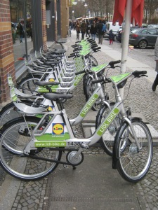Lidl Bikes bij de Marheinekehalle Markthalle